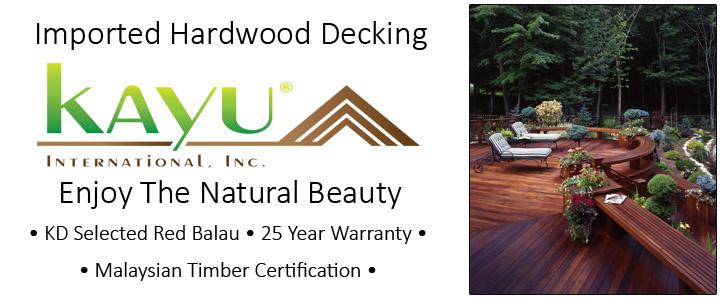 Kayu Imported Hardwood Decking