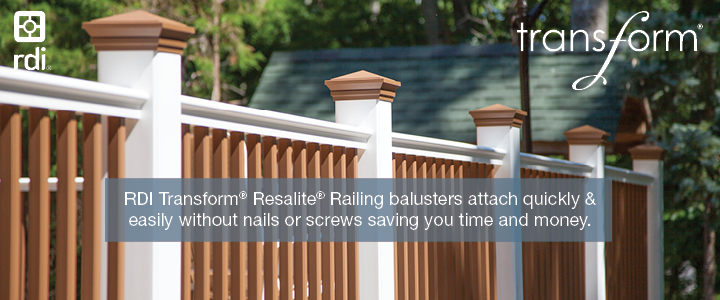 RDI Transform Resalite Railing is a Best In Class product at West Haven Lumber